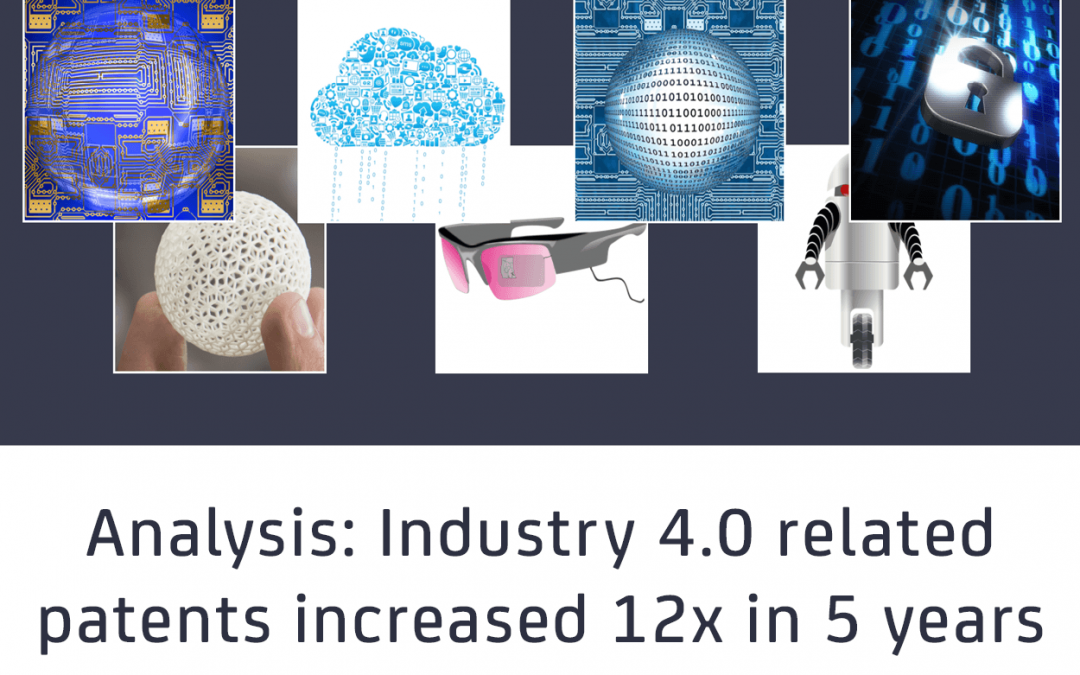Industrial technology trends: Industry 4.0 related patents have grown by 12x in 5 years