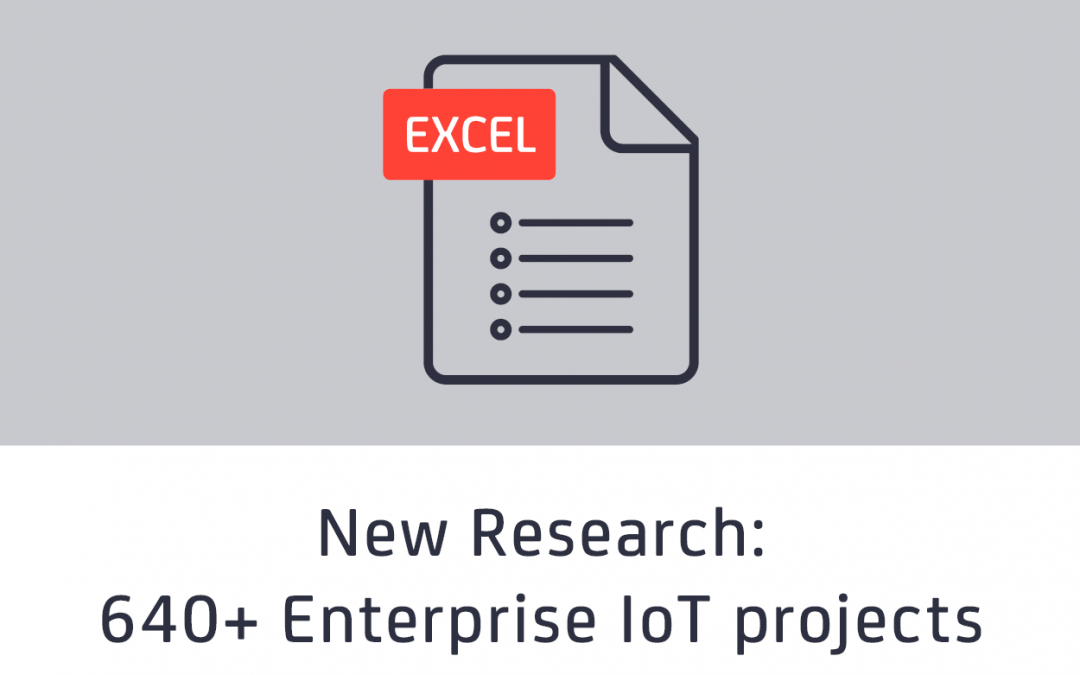 IoT Analytics publishes first ever global overview of 640+ enterprise IoT use cases