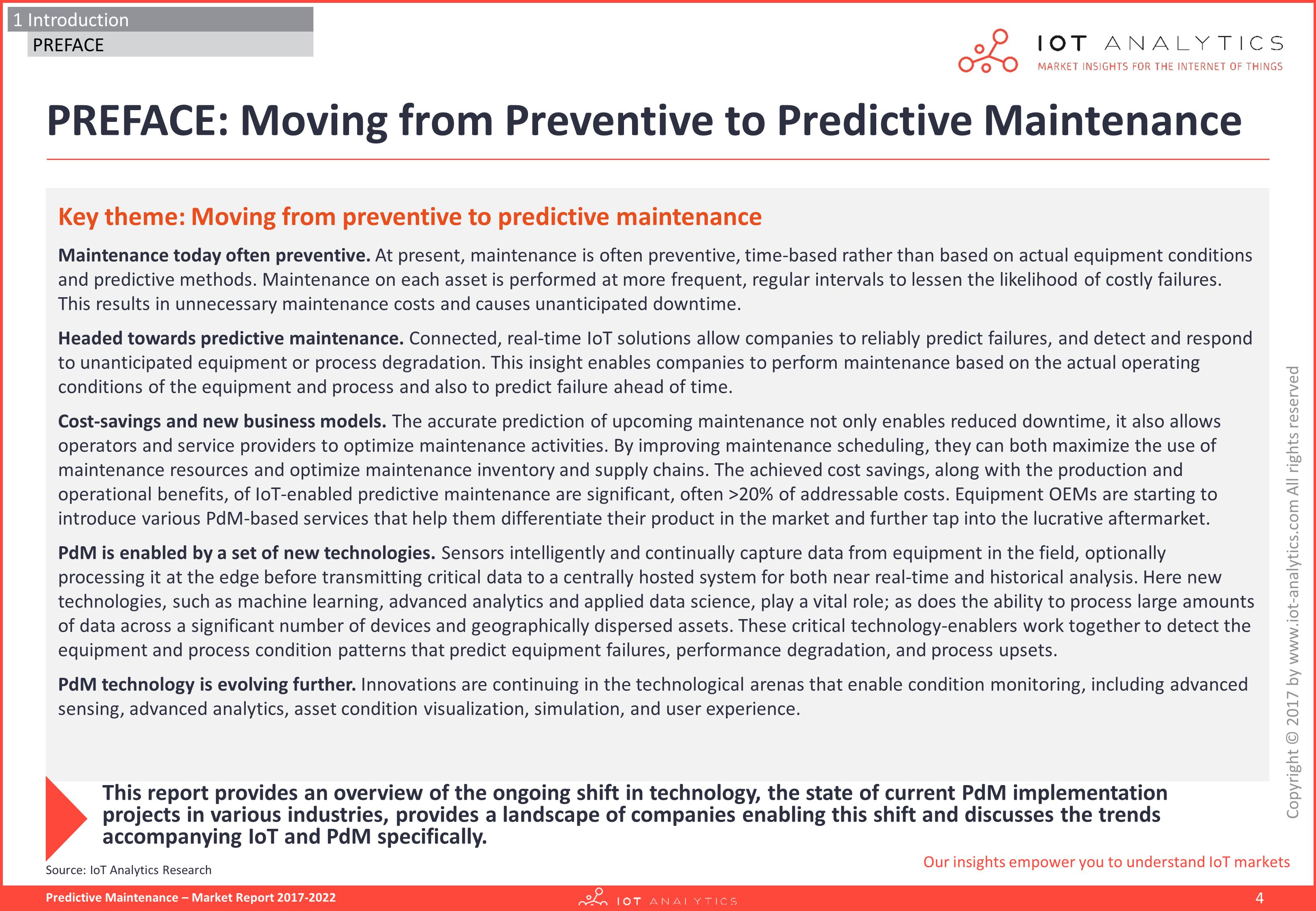 Predictive Maintenance Market Report 2017-22