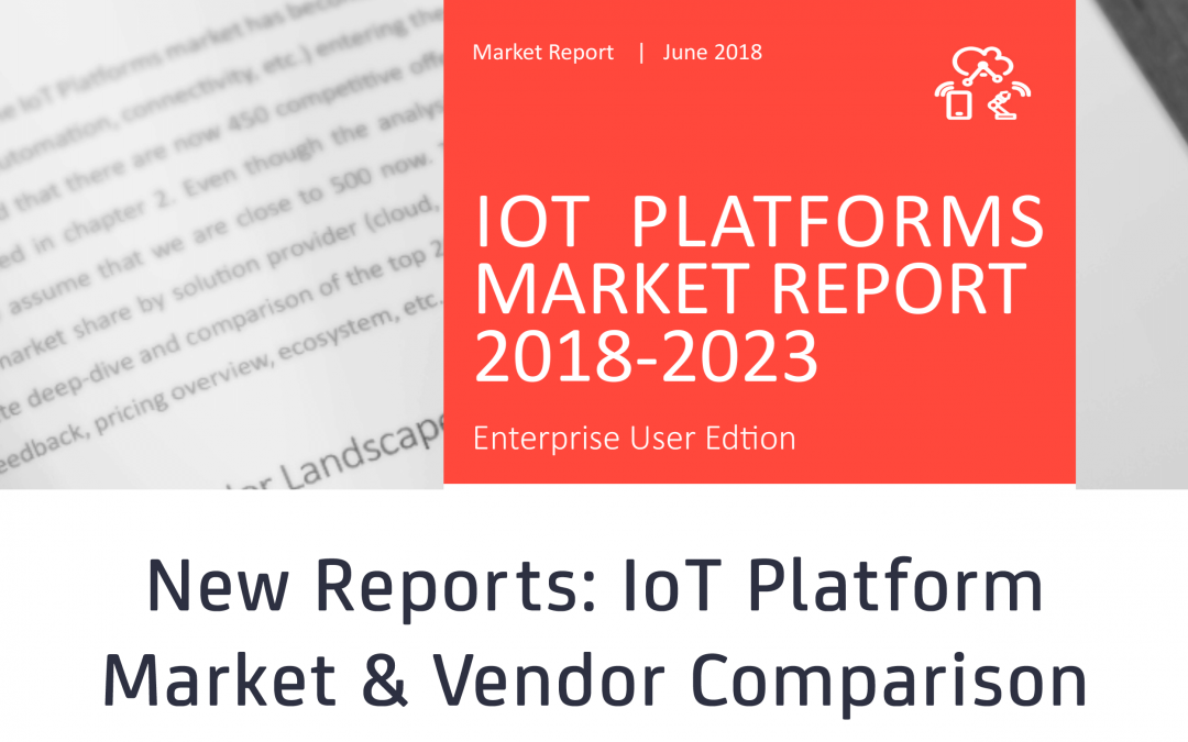 Microsoft and PTC named leading IoT Platform vendors for Cloud and AEP, respectively, as growth in the IoT Platforms Market accelerates to 39%