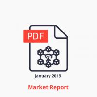 iot blockchain market report icon