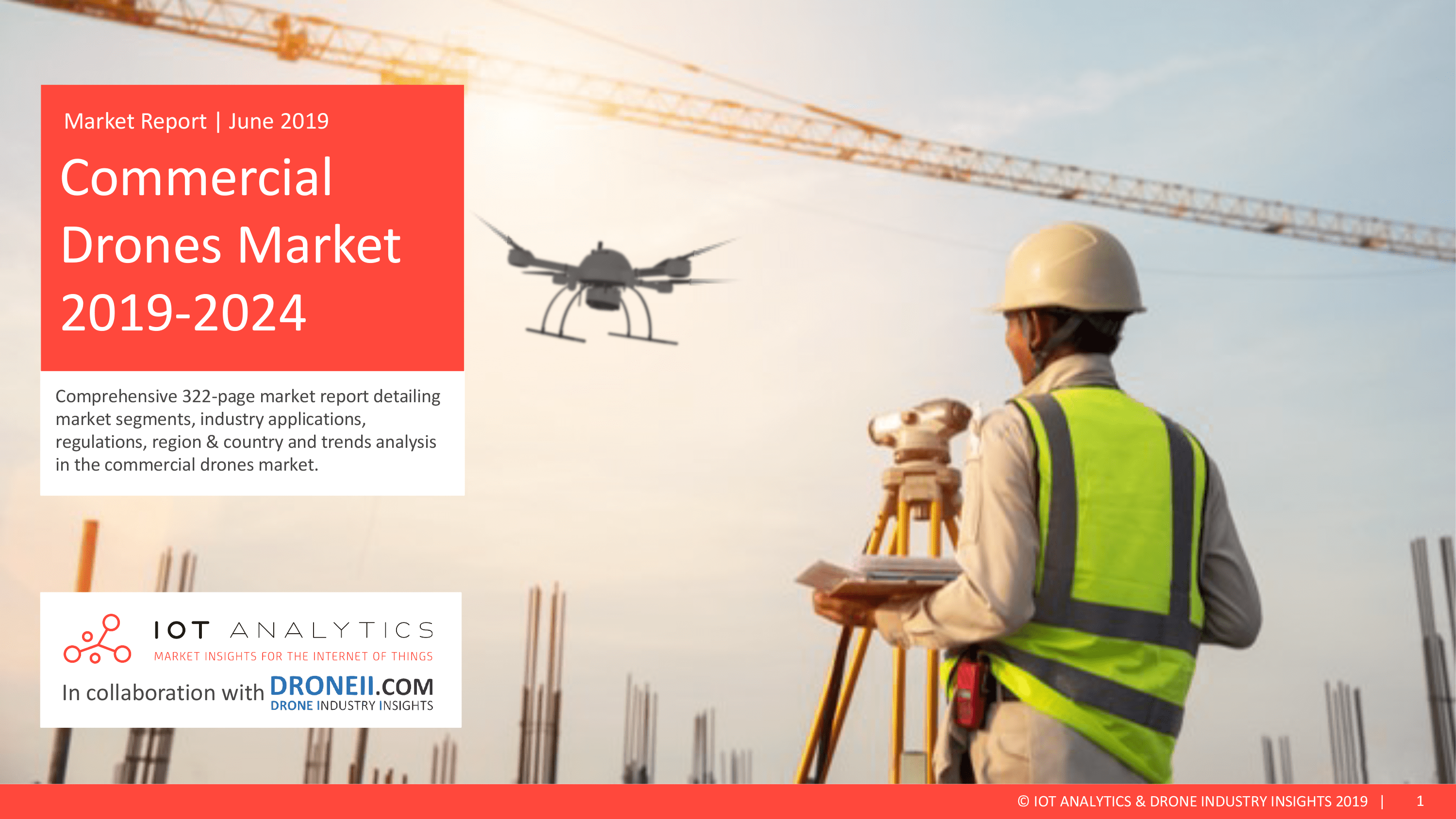 Commercial Drones Market Report 2019 - 2024 - Coverpage  - Commercial Drone Market Report 2019 2024 cover min - A $43B opportunity by 2024