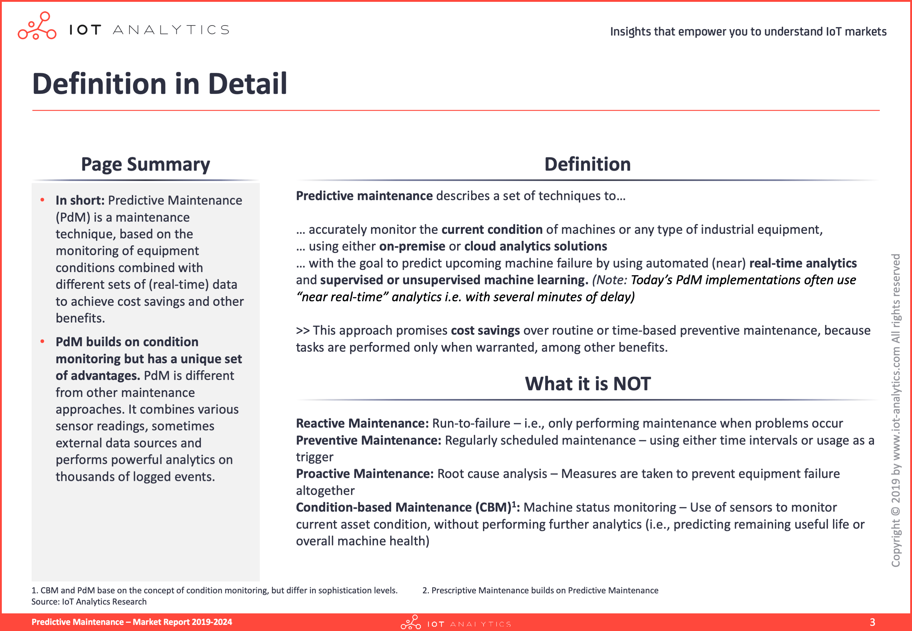 Predictive maintenance definition - Predictive Maintenance Report 2019-2024