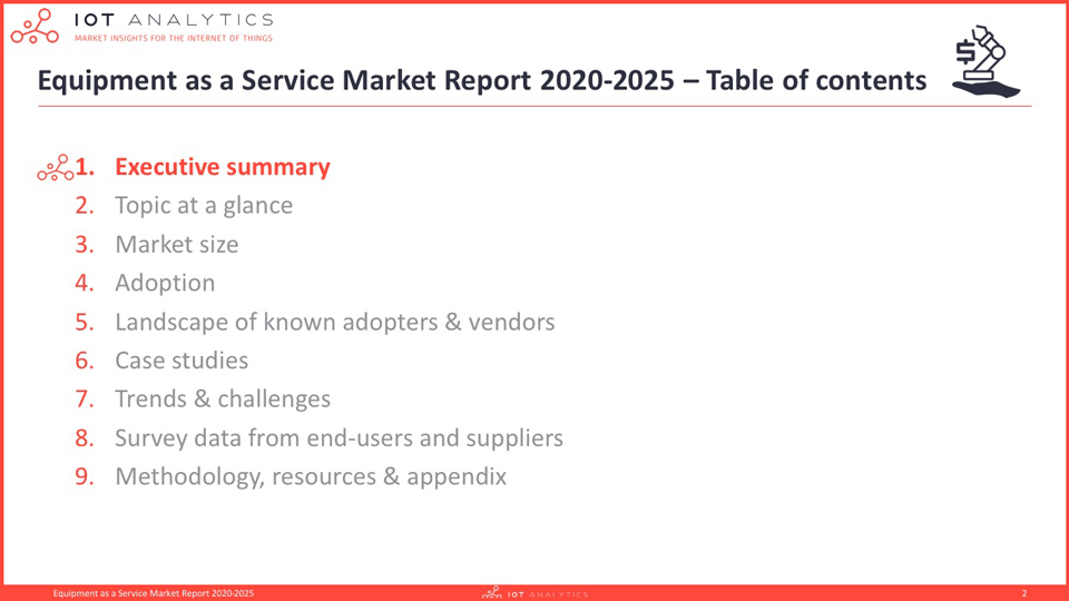Equipment-as-a-Service-Market-Report-2020-2025-Table-of-contents