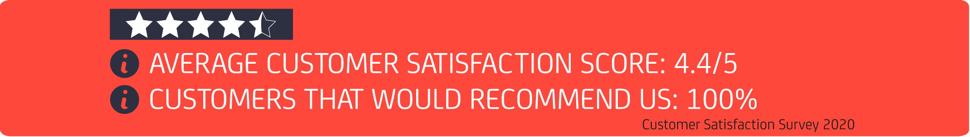 Customer satisfaction score banner 2020