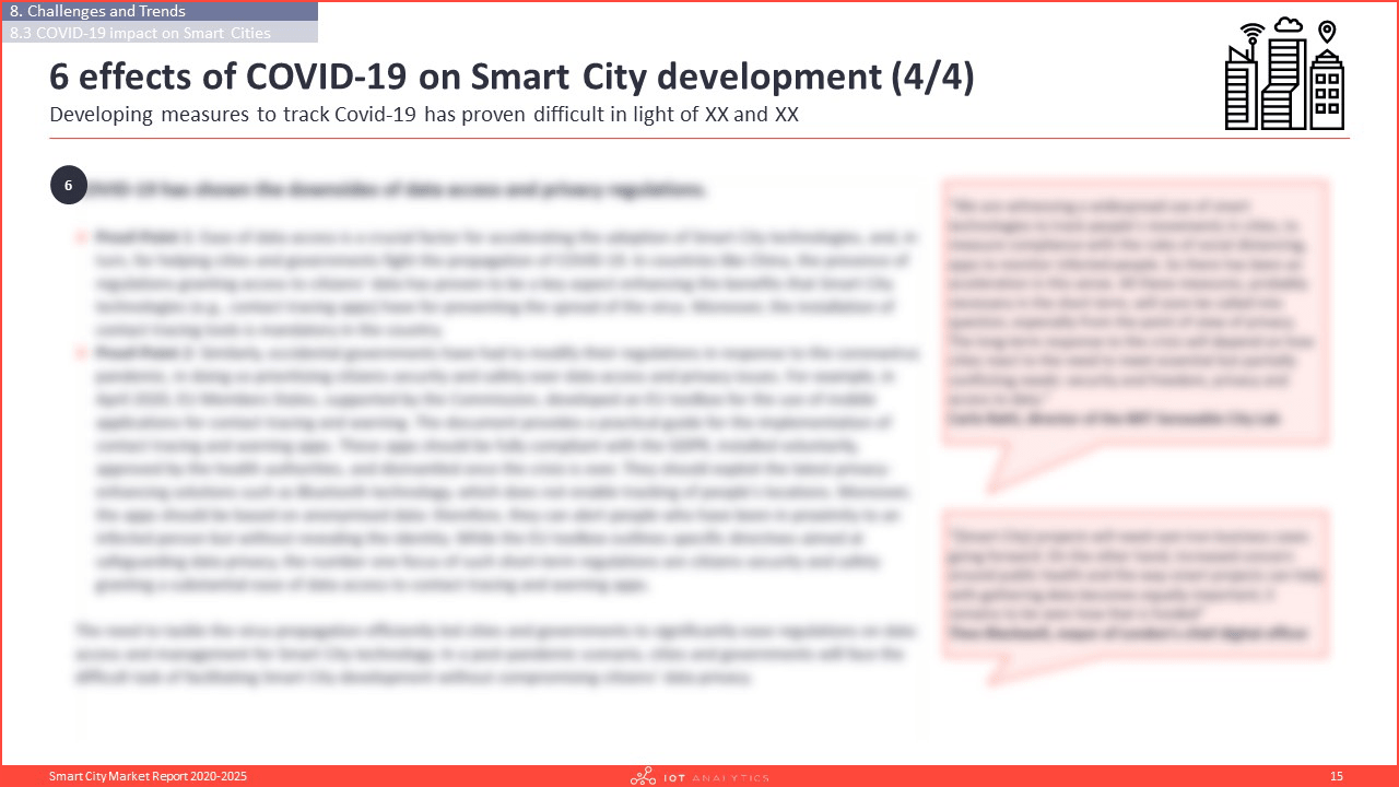 Smart City Market Report 2020-2025 - 6 effects of covid-19 on smart city development