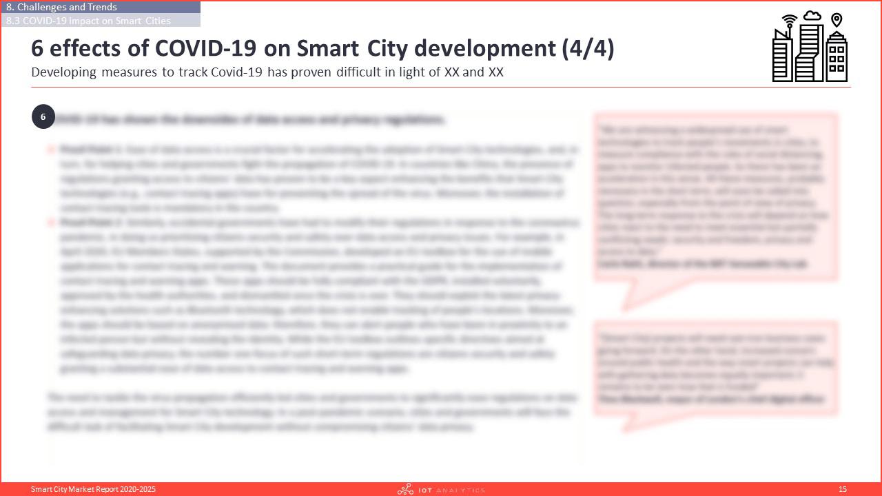 Smart City Market Report 2020-2025 - 6 effects of covid-19 on smart city development
